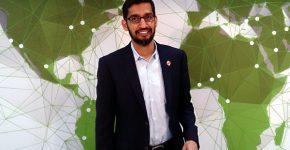 """סונדאר פיצ'אי, מנכ""""ל גוגל ואלפבית. צילום: מאוריציו פסקה, מתוך ויקיפדיה"""