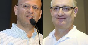 """מימין: יואב לודמר, מנכ""""ל משותף ב-SMBIT (צילום עצמי), ורן קליינר, מנכ"""" האקדמיה לרחפנים בישראל (צילום: ניב קנטור)"""