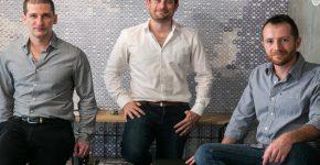 מייסדי אינדג'י – מימין לשמאל: מילה גנדלסמן, ברק פרלמן ועדו טריביצקי. צילום: יותם רונן