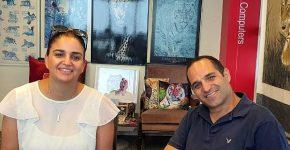 """אמיר שלום המנכ""""ל ועינב עזרא מנהלת השיווק, מלינגו. צילום: פלי הנמר"""