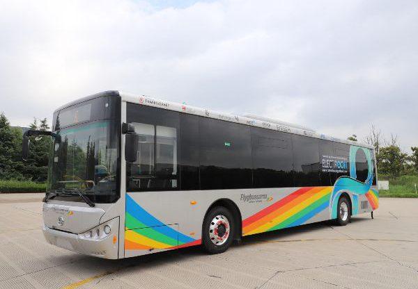 """האוטובוס החשמלי אשר אלקטריאון עתידה להפעיל על גבי תשתית הכביש החשמלי שתטמיע בת""""א עד סוף השנה. צילום: יח""""צ"""