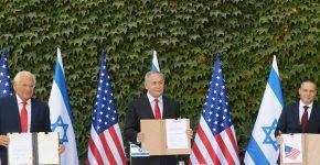 """מימין: שר המדע והטכנולוגיה, יזהר שי, ראש הממשלה, בנימין נתניהו, ושגריר ארצות הברית בישראל, דיוויד פרידמן. צילום: עמוס גרשום, לע""""מ"""