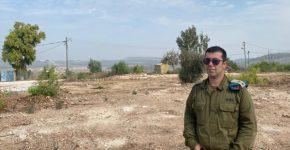 """סא""""ל יניב הרן, מפקד גדוד התקשוב של אוגדה 162, בתרגיל בשטח. צילום: דובר צה""""ל"""